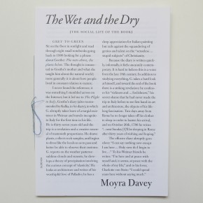 The Social Life of the Book #2: The Wet and the Dry