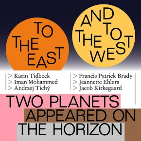 To the east and to the west, two planets appeared on the horizon